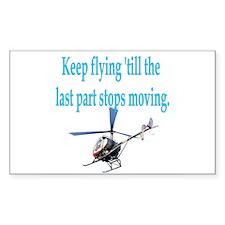 Keep on flyin' - heli Rectangle Decal