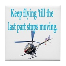 Keep on flyin' - heli Tile Coaster