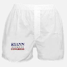 RYANN for congress Boxer Shorts