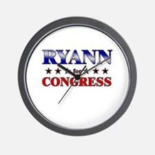 RYANN for congress Wall Clock