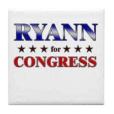 RYANN for congress Tile Coaster