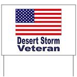 Desert Storm Veteran Yard Sign