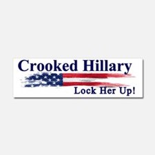 Crooked Hillary Lock Her Up Car Magnet 10 X 3