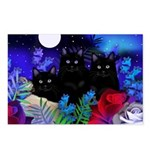 Black Cats Moon Postcards (Package of 8)