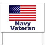 Navy Veteran Yard Sign