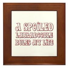 Spoiled Labradoodle Framed Tile