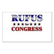 RUFUS for congress Rectangle Decal