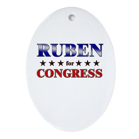 RUBEN for congress Oval Ornament