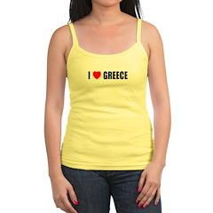 I Love Greece Jr.Spaghetti Strap