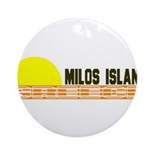 Milos Island, Greece Ornament (Round)