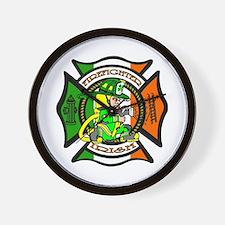Firefighter-Irish Wall Clock