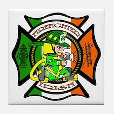 Firefighter-Irish Tile Coaster