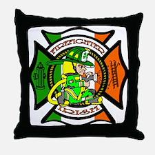 Firefighter-Irish Throw Pillow