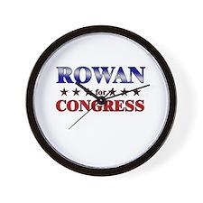 ROWAN for congress Wall Clock