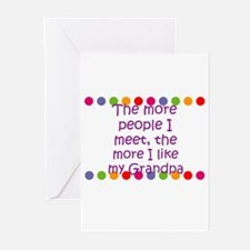 The more people I meet, the m Greeting Cards (Pk o