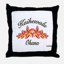 KAIHEWALU OHANA Throw Pillow