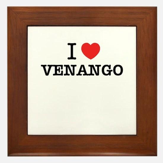 I Love VENANGO Framed Tile
