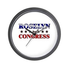 ROSELYN for congress Wall Clock