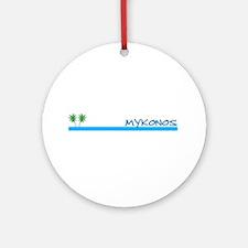 Mykonos, Greece Ornament (Round)
