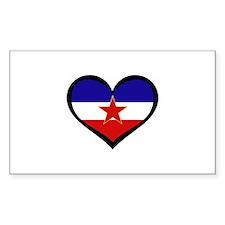 Yugoslavian Love Rectangle Decal