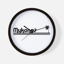 Mykonos, Greece Wall Clock