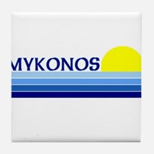 Mykonos, Greece Tile Coaster