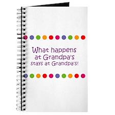 What happens at Grandpa's sta Journal