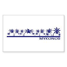 Mykonos, Greece Rectangle Decal