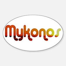 Mykonos, Greece Oval Decal