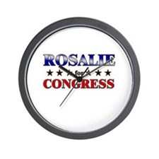 ROSALIE for congress Wall Clock
