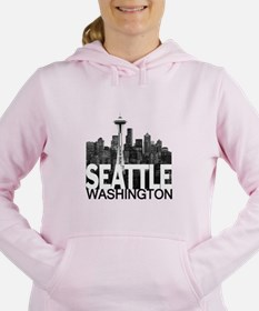 Cute Seattle Women's Hooded Sweatshirt