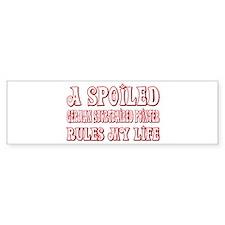 Spoiled Pointer Bumper Bumper Sticker