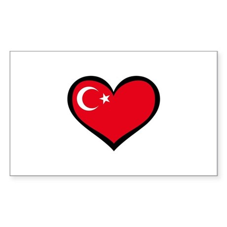 Turkish Love Rectangle Sticker