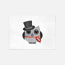 Top Hat Owl - Christmas 5'x7'Area Rug