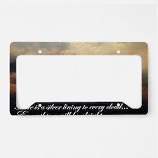 Unique Encouragement License Plate Holder