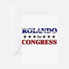ROLANDO for congress Greeting Card