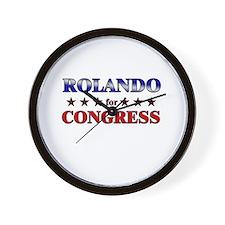 ROLANDO for congress Wall Clock
