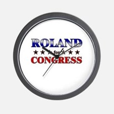 ROLAND for congress Wall Clock