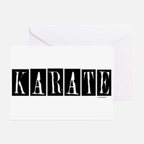 """""""Karate"""" 1 Greeting Cards (Pk of 10)"""