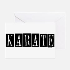 """""""Karate"""" 1 Greeting Card"""