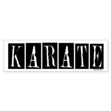 """""""Karate"""" 1 Bumper Bumper Sticker"""