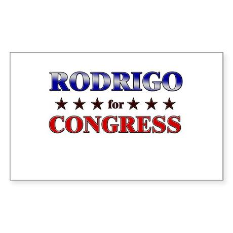 RODRIGO for congress Rectangle Sticker