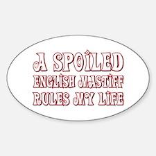 Spoiled Mastiff Oval Bumper Stickers