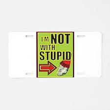 Stupid Trump Aluminum License Plate