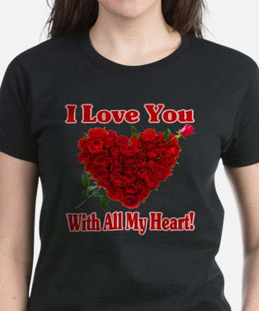 Gifts for i love you unique i love you gift ideas cafepress i love you with all my heart t shirt negle Image collections