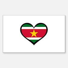 Surinamese Love Rectangle Decal