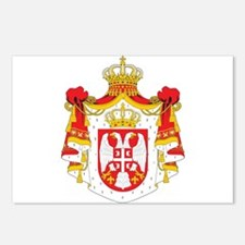 Serbia coat of arms Postcards (Package of 8)