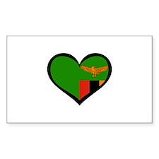 Zambia Love Rectangle Decal