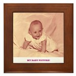 My Baby Picture Framed Tile