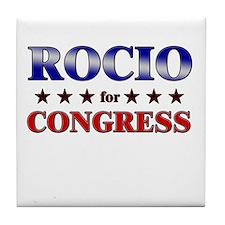 ROCIO for congress Tile Coaster
